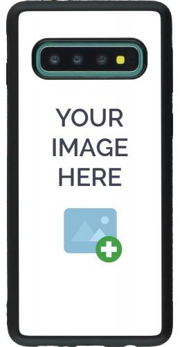 Coque personnalisée en Silicone rigide noir - Samsung Galaxy S10