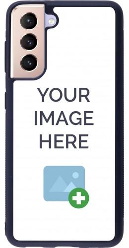 Coque personnalisée en Silicone rigide noir - Samsung Galaxy S21 5G