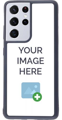 Coque personnalisée en Silicone rigide noir - Samsung Galaxy S21 Ultra 5G