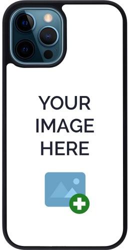 Coque personnalisée en Silicone rigide noir - iPhone 12 / 12 Pro