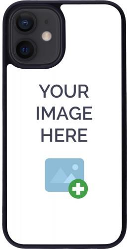 Coque personnalisée en Silicone rigide noir - iPhone 12 mini