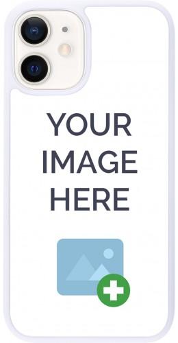 Coque personnalisée en Silicone rigide blanc - iPhone 12 mini