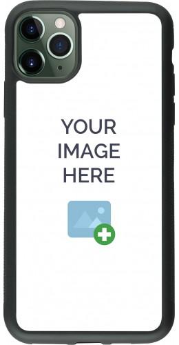Coque personnalisée en Silicone rigide noir- iPhone 11 Pro Max