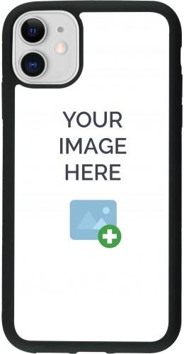 Coque personnalisée en Silicone rigide noir - iPhone 11