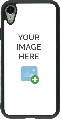 Coque personnalisée en Silicone rigide noir - iPhone XR