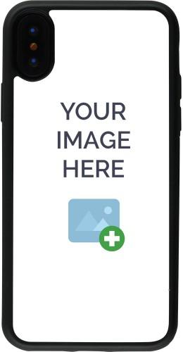 Coque personnalisée en Silicone rigide noir - iPhone X / Xs