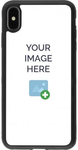 Coque personnalisée en Silicone rigide noir - iPhone Xs Max