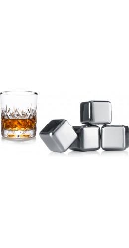 Cubes-glaçons chromé (4 pièces)
