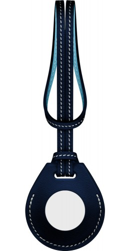 Cuir avec cordon bleu - AirTag