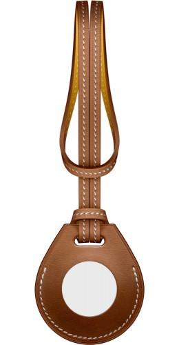 Cuir avec cordon brun - AirTag