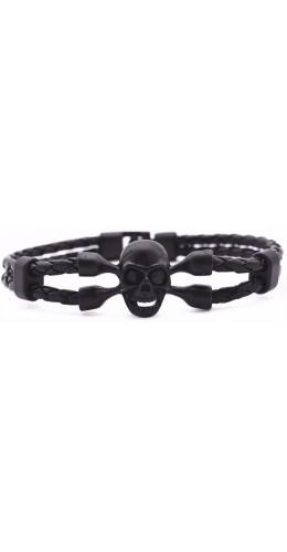 Double Bracelet Skull Black