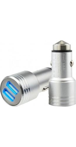 Double adaptateur USB allume-cigare brise-glace Hammer