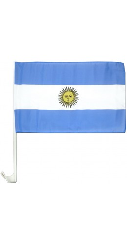 Drapeau Argentine pour voiture 30 x 45 cm