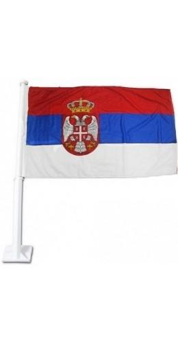 Drapeau Serbie pour voiture 30 x 45 cm