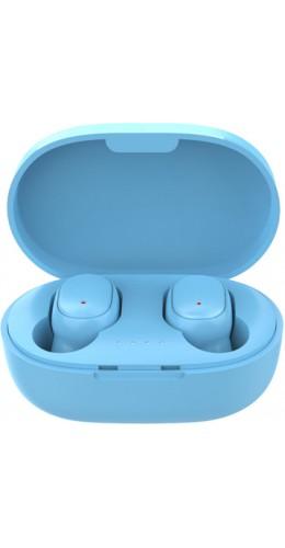 Ecouteurs Bluetooth sans fil A6S - incl. micro, Touch control, étui de charge avec affichage LED - Bleu