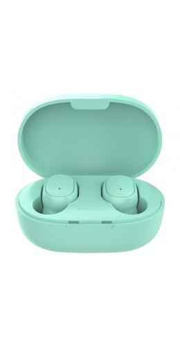 Ecouteurs Bluetooth sans fil A6S - incl. micro, Touch control, étui de charge avec affichage LED - Vert