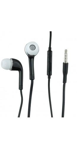 Ecouteurs avec télécommande et micro noir