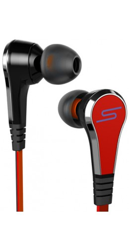 Ecouteurs in-ear noodle rouge