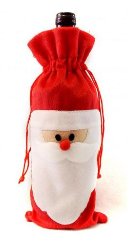 Emballage bouteille Père Noël
