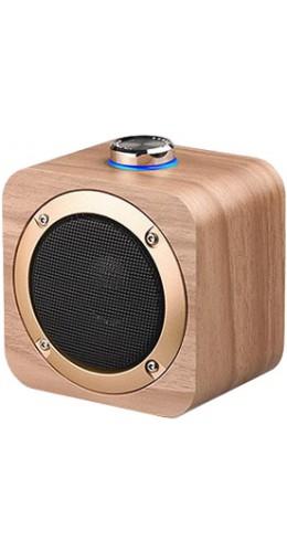 Enceinte sans-fil Bluetooth bois retro