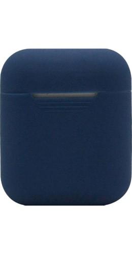 Etui AirPods 1 / 2 - Silicone bleu foncé