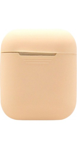 Etui AirPods silicone beige