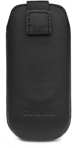 Etui IQOS 2.4 / 3 / 3 DUO - Qialino cuir véritable noir
