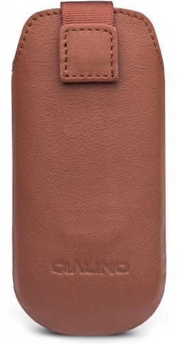 Etui IQOS 2.4 / 3 / 3 DUO - Qialino cuir véritable brun