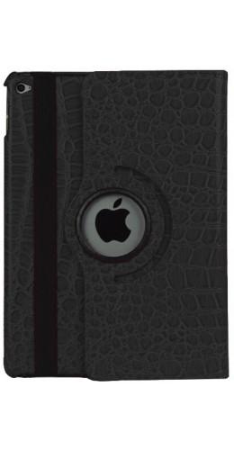 Etui cuir iPad Air 2 - Premium Croco Flip 360  noir
