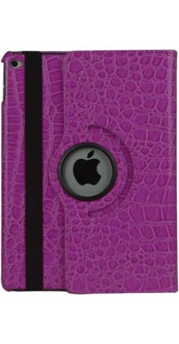 """Etui cuir iPad 9.7"""" / Air / Air 2 - Premium Croco Flip 360  violet"""