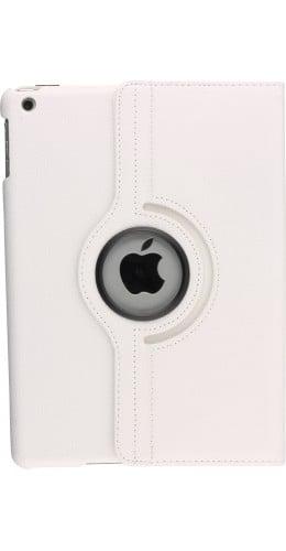 """Etui cuir iPad 9.7""""- Premium Flip 360 blanc"""