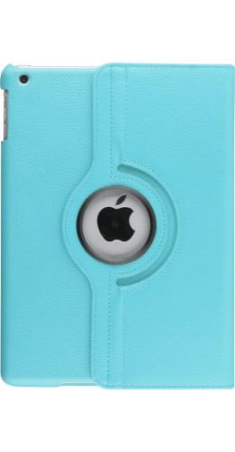 "Etui cuir iPad 9.7""- Premium Flip 360 bleu clair"