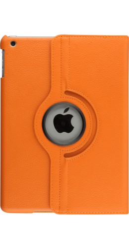 Etui cuir iPad 2/3/4 - Premium Flip 360 orange