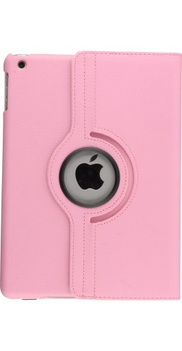 Etui cuir iPad Air - Premium Flip 360 rose clair
