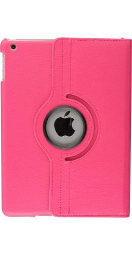 """Etui cuir iPad 9.7"""" - Premium Flip 360 rose foncé"""
