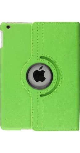 """Etui cuir iPad 9.7"""" - Premium Flip 360 vert"""