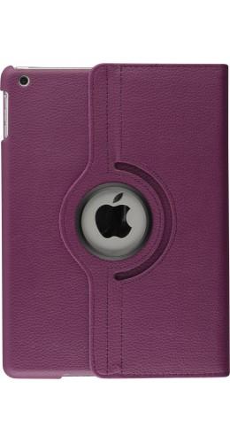 """Etui cuir iPad 9.7"""" - Premium Flip 360 violet"""