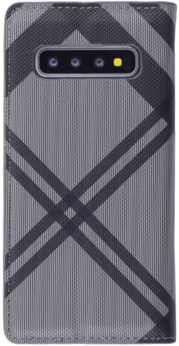 Fourre Samsung Galaxy S10 - Flip Lines gris