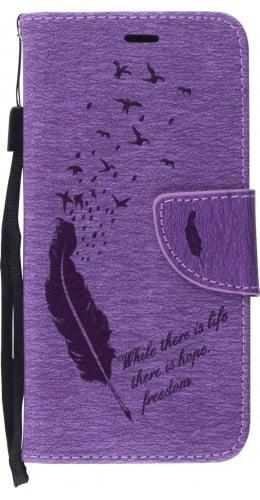 Fourre Samsung Galaxy S10 - Flip plume freedom violet