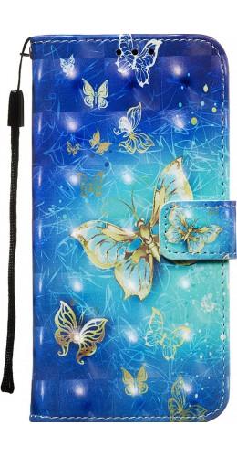 Fourre Samsung Galaxy S20+ - Flip 3D papillons dorés