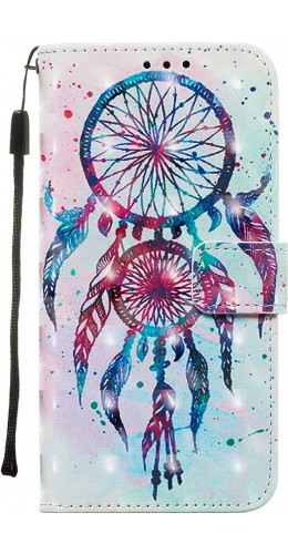 Fourre Samsung Galaxy S20 - Flip 3D Dreamcatcher rose bleu