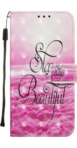 Fourre Samsung Galaxy S20+ - Flip 3D Stay beautiful