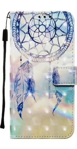Fourre Samsung Galaxy S20+ - Flip 3D dreamcatcher bleu clair