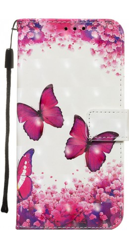 Fourre Samsung Galaxy S20 Ultra - Flip 3D papillons roses