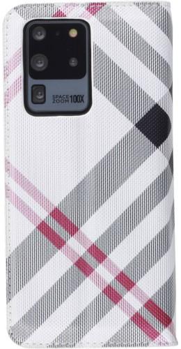 Fourre Samsung Galaxy S20 Ultra - Flip Lines blanc