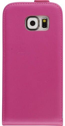 Fourre Samsung Galaxy S6 edge - Vertical Flip rose foncé
