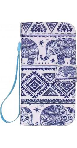 Fourre Samsung Galaxy S7 edge - Flip Elephant Aztec