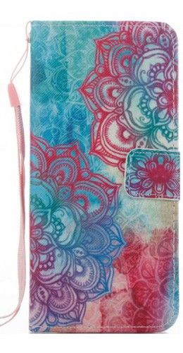Fourre Samsung Galaxy S8 - Flip mandala rose bleu