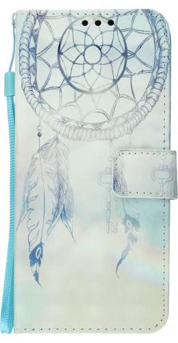 Fourre Samsung Galaxy S10e - Flip 3D dreamcatcher bleu clair