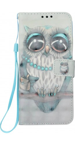 Fourre Samsung Galaxy S10e - Flip 3D fashion owl